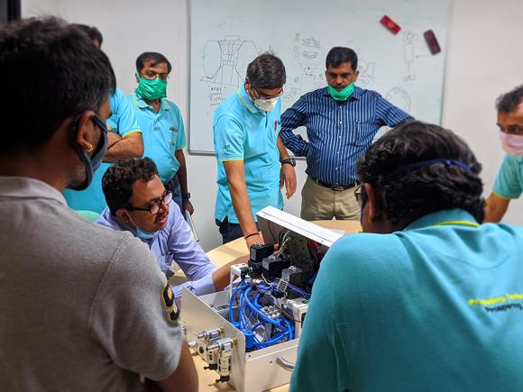 Team at Jyoti CNC work to design and build COVID-19 ventilator