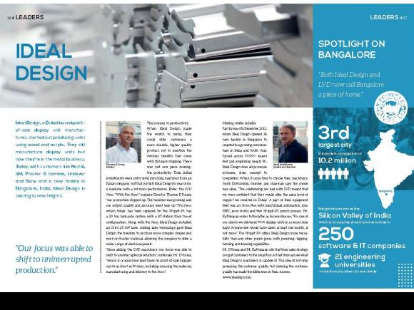 Ideal Design uses an LVD Strippit PX-Series punch press