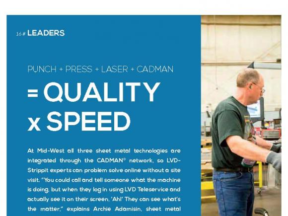 Mid-West Metal Products employs LVD's CADMAN software suite