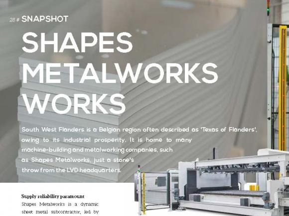 Shapes Metalworks uses LVD Phoenix 6020 fiber laser cutting machine