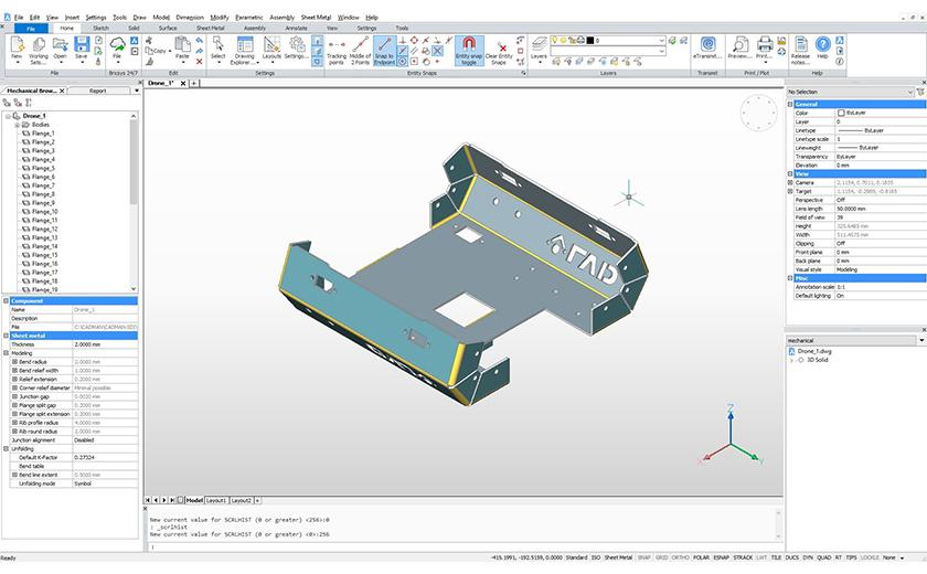 3D sheet metal CAD package part of CADMAN-SDI