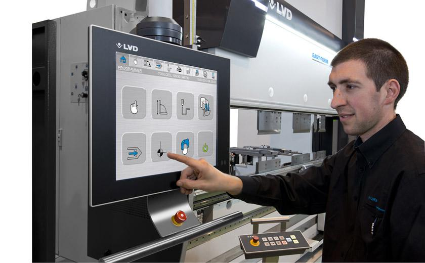 LVD Easy-Form press brake has touch screen control