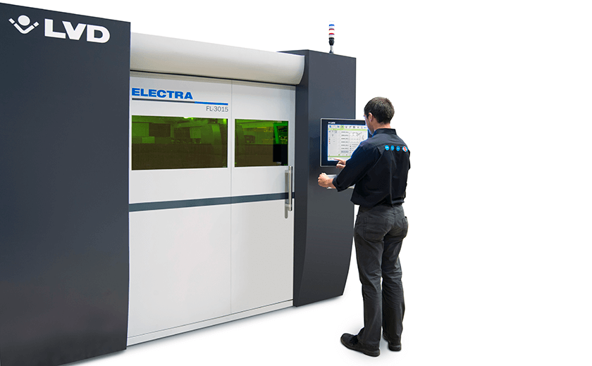 Electra fiber laser touch screen