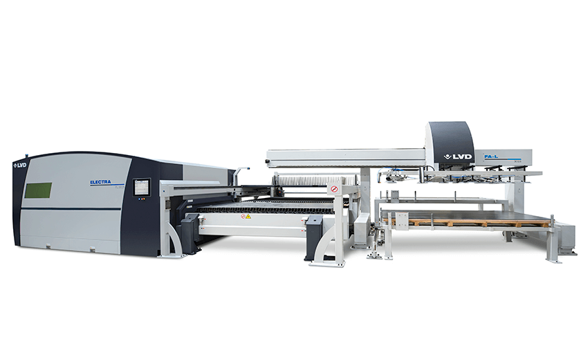 Electra FL-3015 fiber laser and Flexible Automation