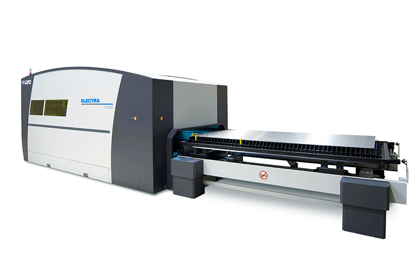 Electra FL-3015 fiber laser shuttle tables