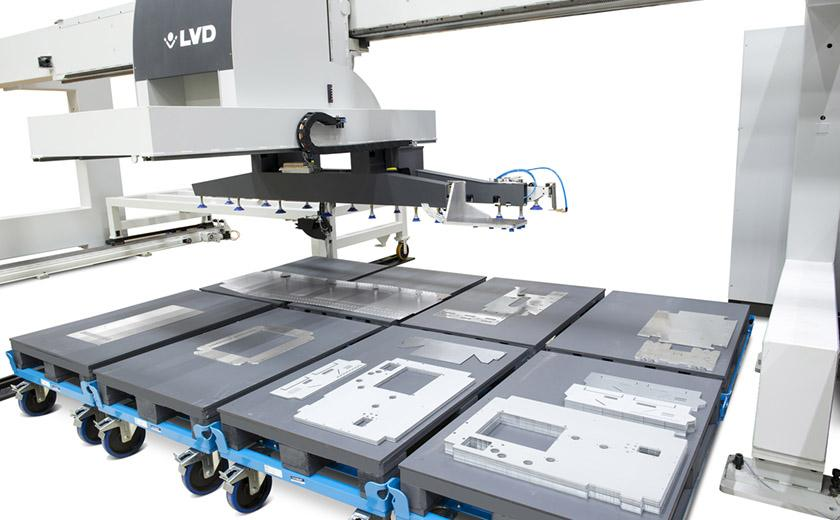 LVD automation system offers part picking and stacking