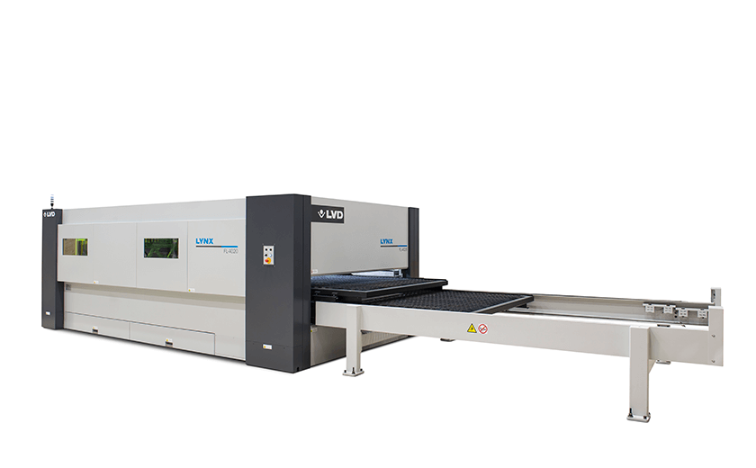 Lynx FL-4020 fiberlaser table changeover