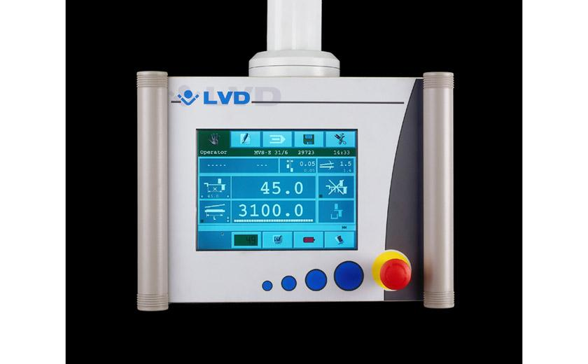LVD custom shearing machines offer touch screen control