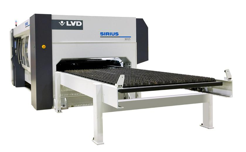 LVD Sirius features integrated shuttle table
