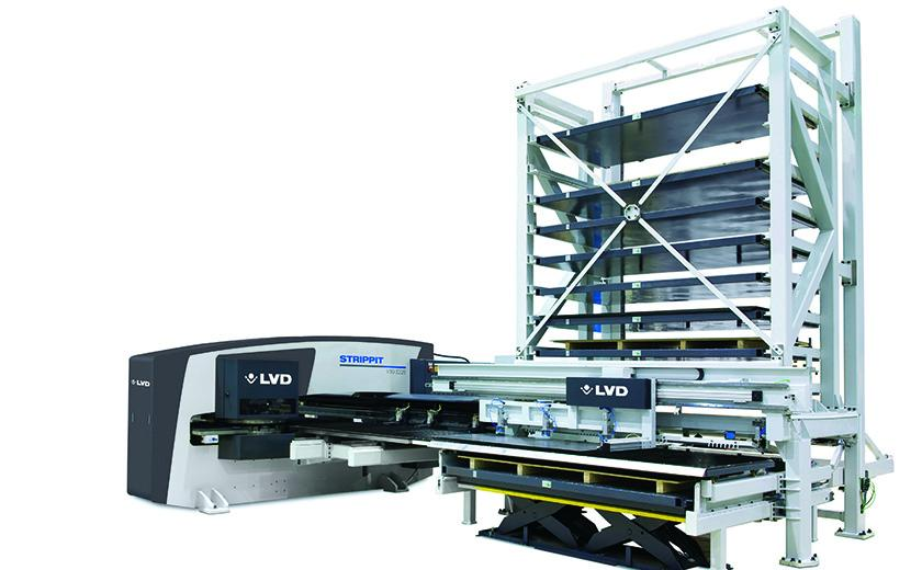 LVD Strippit V-Series with CT-P Compact Tower automation