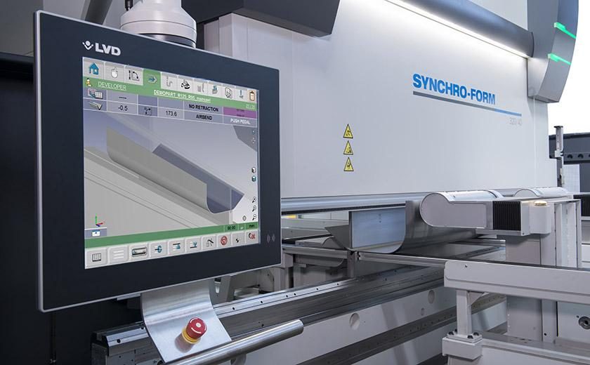 LVD Synchro-Form press brake with touch screen control